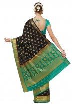 Black Banarasi Silk Woven Traditional Saree