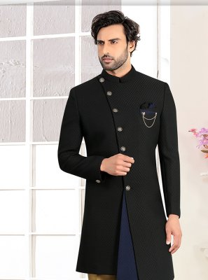 Black Buttons Indo Western