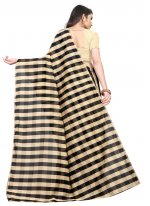 Black Casual Art Silk Printed Saree