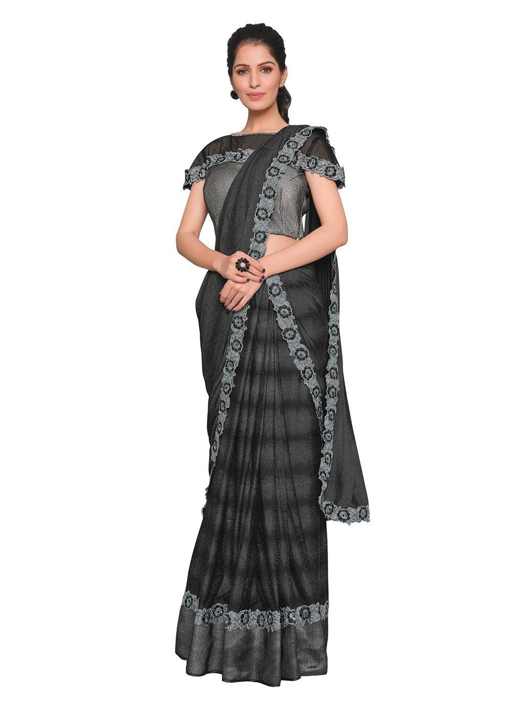 Black Ceremonial Designer Saree