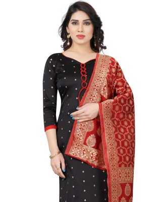 Black Color Churidar Suit