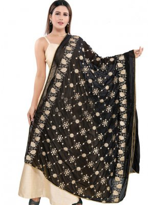 Black Color Designer Dupatta