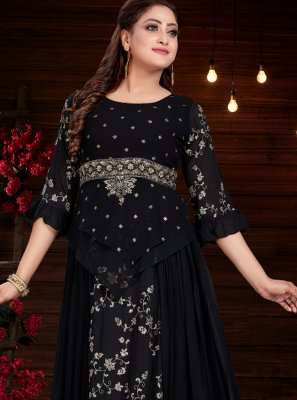 Black Color Party Wear Kurti