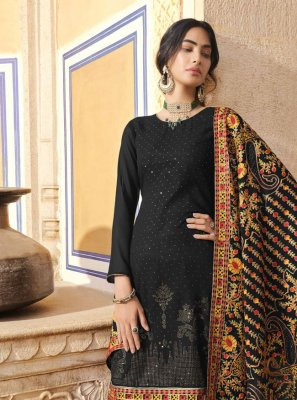 Black Embroidered Festival Designer Pakistani Suit