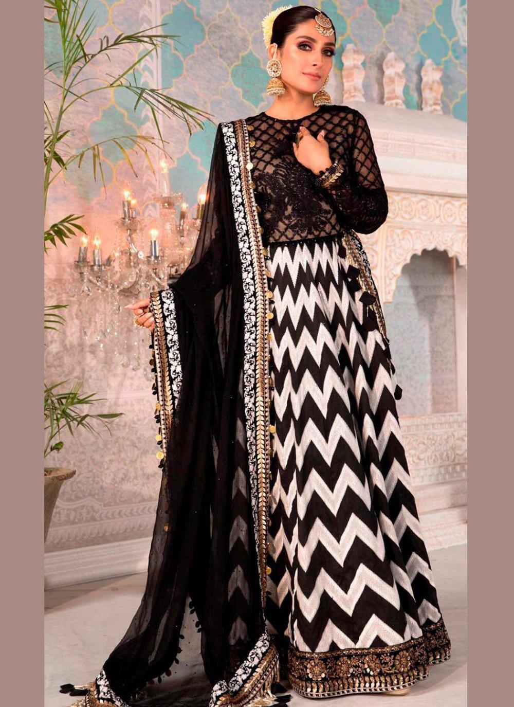 Black Embroidered Floor Length Anarkali Suit