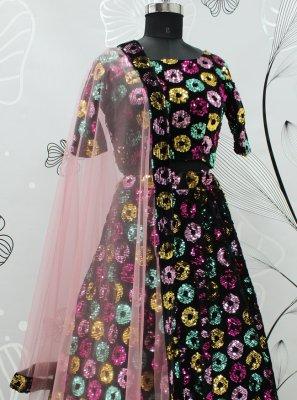 Black Embroidered Lehenga Choli
