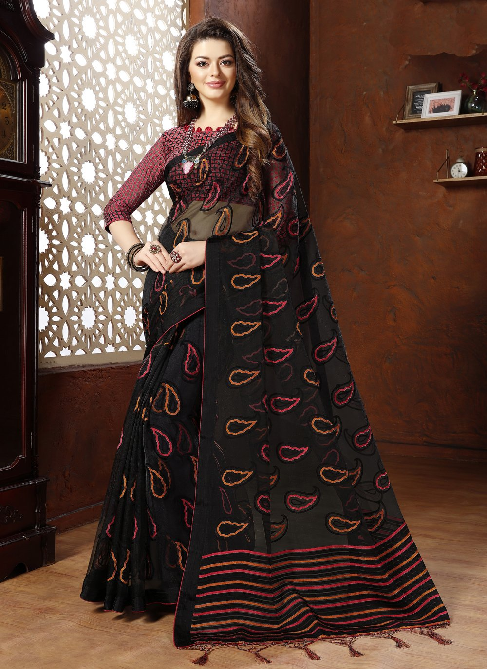 Black Fancy Designer Saree
