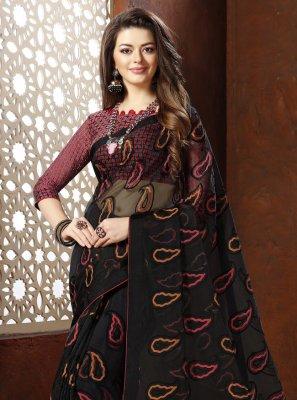 Black Fancy Designer Saree