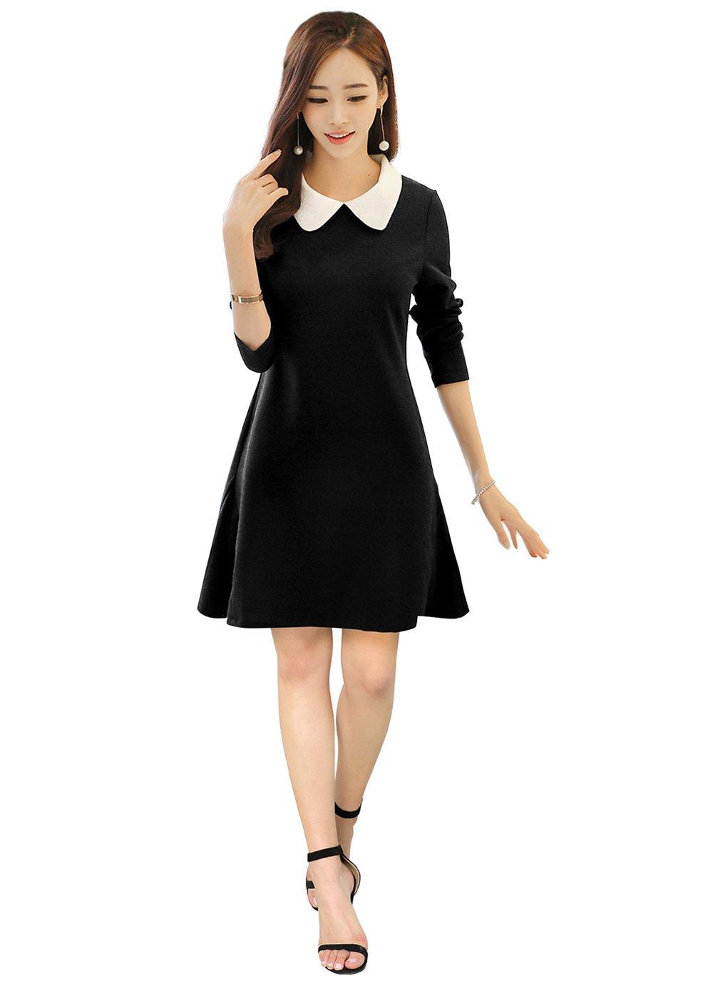Black Fancy Fabric Casual Kurti