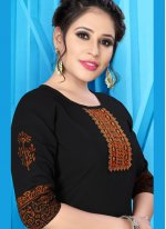 Black Fancy Fabric Festival Party Wear Kurti