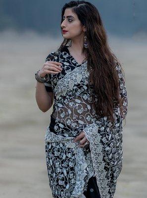 Black Fancy Trendy Saree
