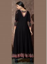 Black Georgette Desinger Anarkali Salwar Suit