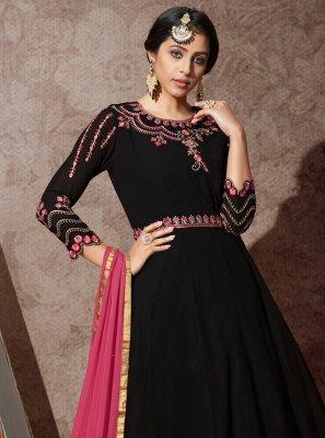 Black Georgette Desinger Anarkali Salwar Suit