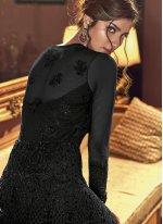 Black Net Resham Floor Length Anarkali Suit