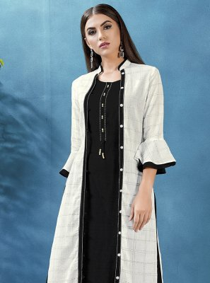 Black Party Rayon Jacket Style