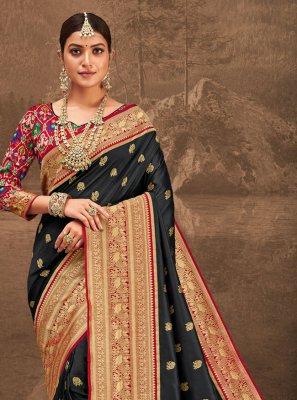 Black Party Traditional Designer Saree