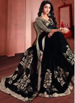 Black Printed Ceremonial Printed Saree