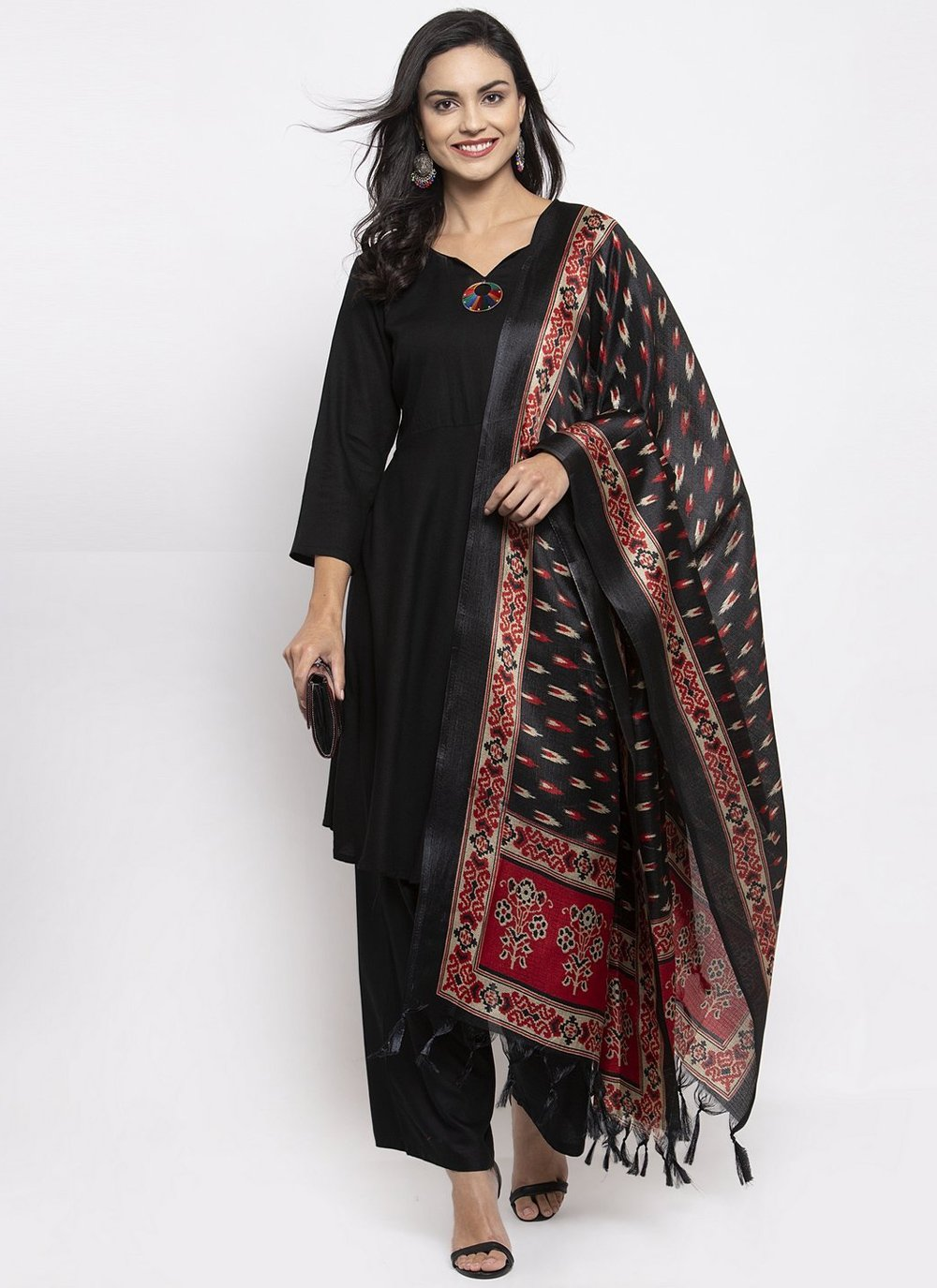 Black Rayon Ceremonial Readymade Suit