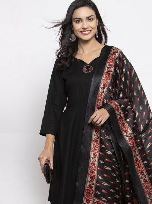 Black Rayon Ceremonial Readymade Suit