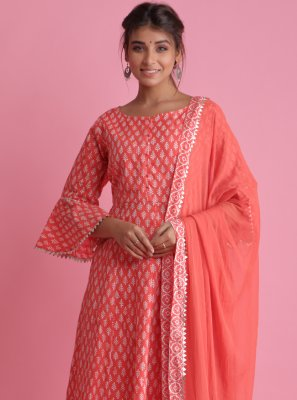 Block Print Cotton Readymade Suit