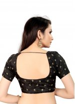 Blouse Embroidered Art Silk in Black
