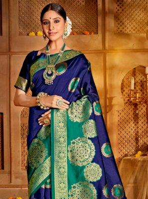 Blue and Green Festival Designer Traditional Saree
