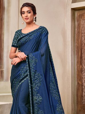Blue Applique Festival Classic Saree