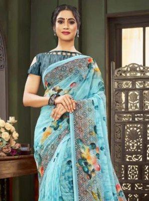 Blue Casual Traditional Saree