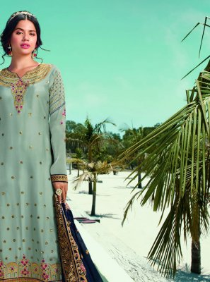 Blue Ceremonial Designer Pakistani Suit