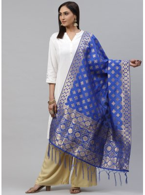Blue Color Designer Dupatta