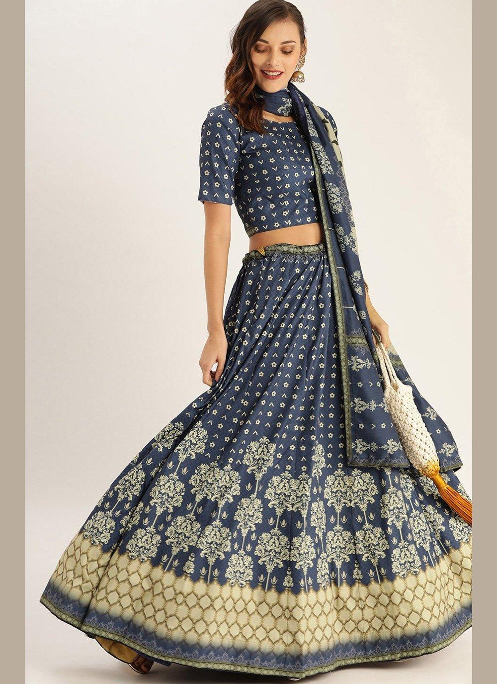 Blue Color Designer Lehenga Choli