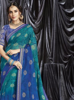 Blue Color Shaded Saree
