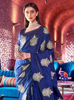 Blue Color Traditional Designer Saree