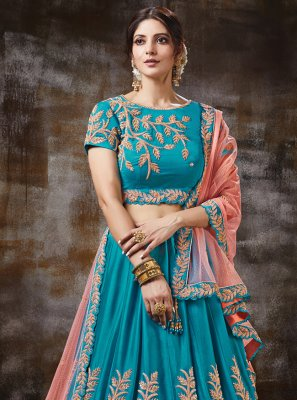 Blue Color Trendy Lehenga Choli