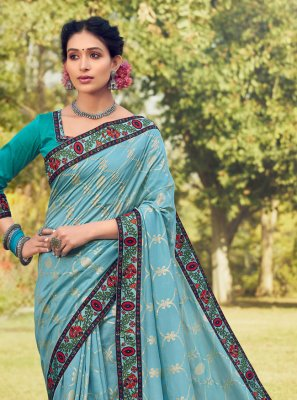 Blue Color Trendy Saree