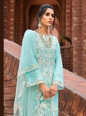 Blue Designer Pakistani Suit