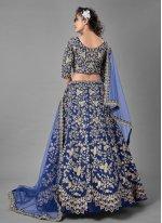 Blue Dori Work Lehenga Choli