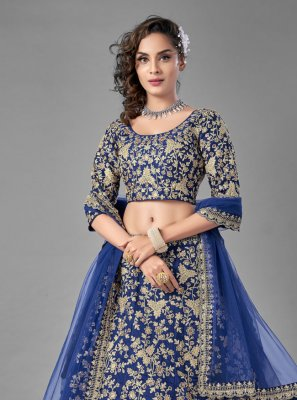 Blue Dori Work Lehenga Choli