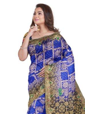 Blue Fancy Fabric Designer Saree