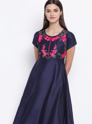 Blue Fancy Party Wear Kurti