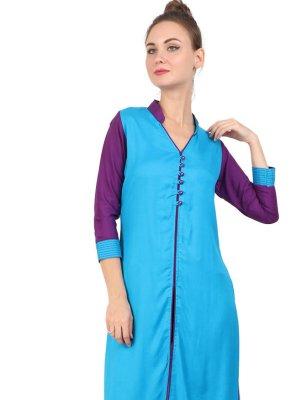 Blue Fancy Party Wear Kurti