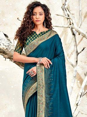 Blue Festival Classic Designer Saree