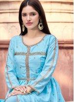 Blue Festival Designer Pakistani Salwar Suit