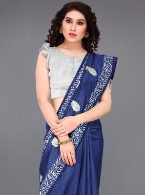Blue Festival Silk Designer Traditional Saree