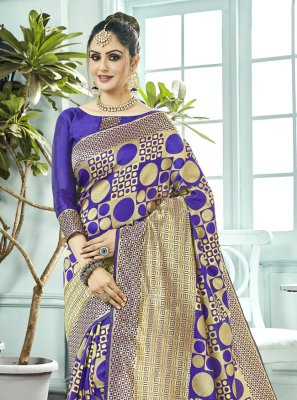 Blue Kanchipuram Silk Bollywood Saree