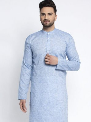 Blue Mehndi Kurta Pyjama
