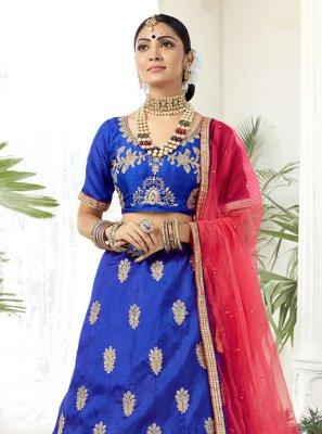 Blue Mehndi Lehenga Choli