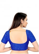 Blue Printed Art Silk Blouse