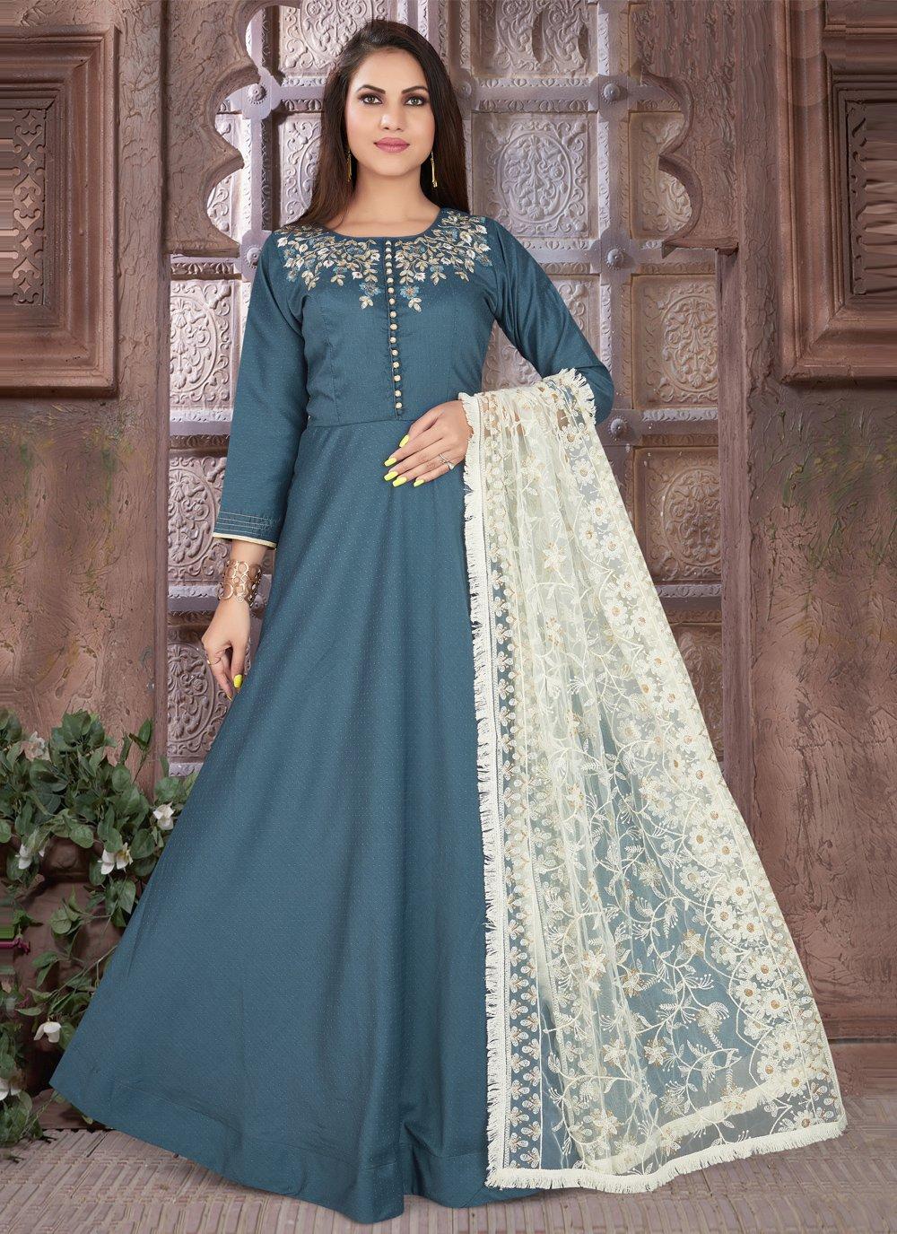 Blue Sangeet Readymade Suit
