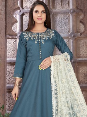 Blue Sangeet Readymade Suit